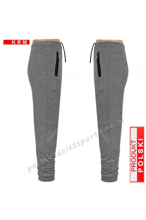 Spodnie sportowe TSP77 mankiet - fantazja/black