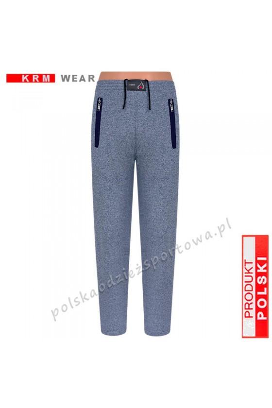Spodnie sportowe TSP76 proste fantazja/blue