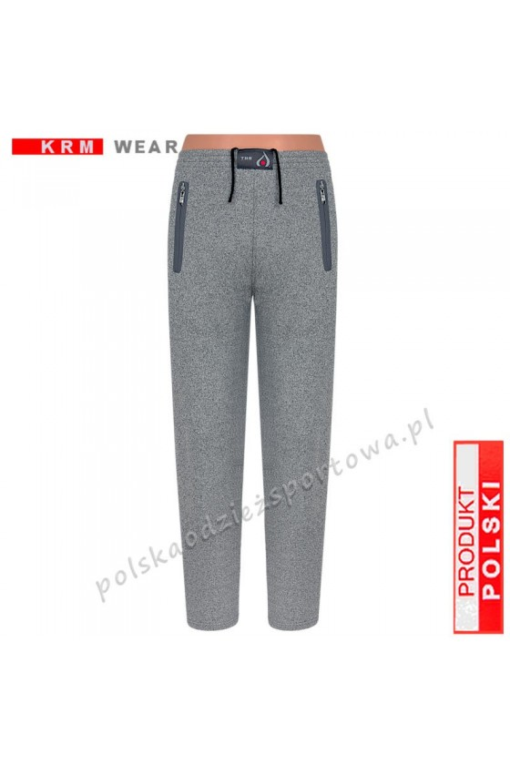 Spodnie sportowe TSP76 proste fantazja/grey