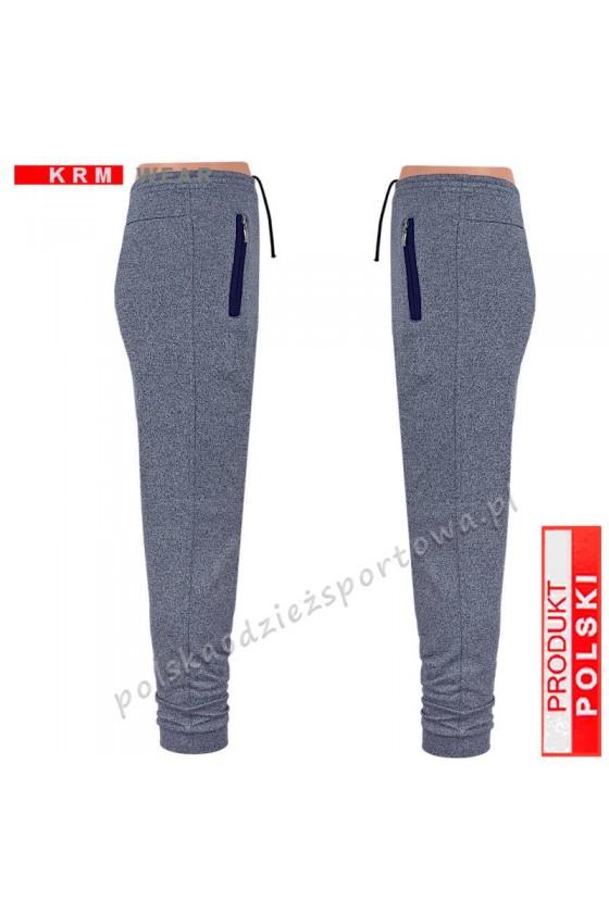 Spodnie sportowe TSP77 mankiet - fantazja/blue