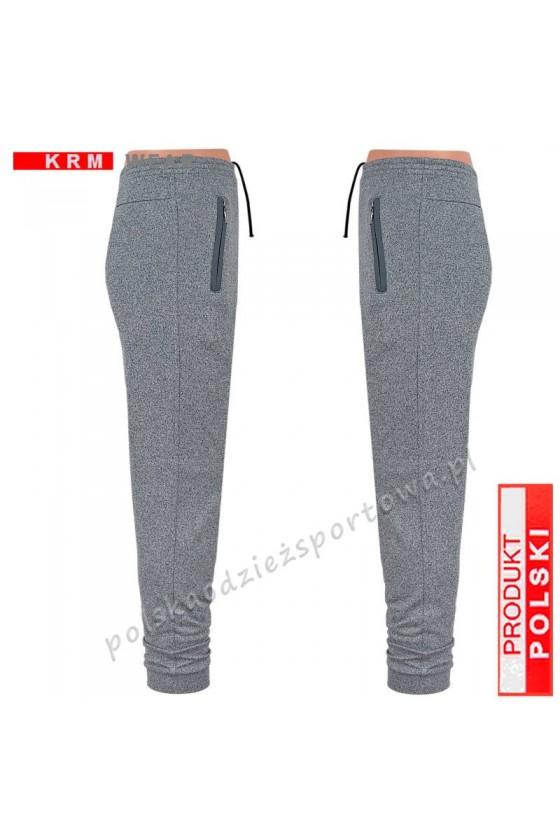 Spodnie sportowe TSP77 mankiet - fantazja/grey