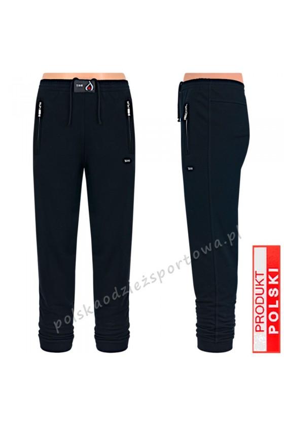 Spodnie sportowe TSP77 mankiet - czarne