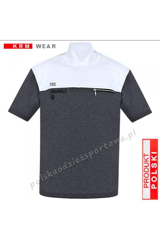 Koszulka Sportowa FR ORIGINAL antracyt/biały