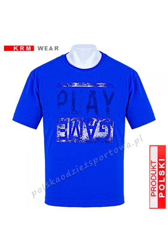 Koszulka sportowa TS PLAY niebieska