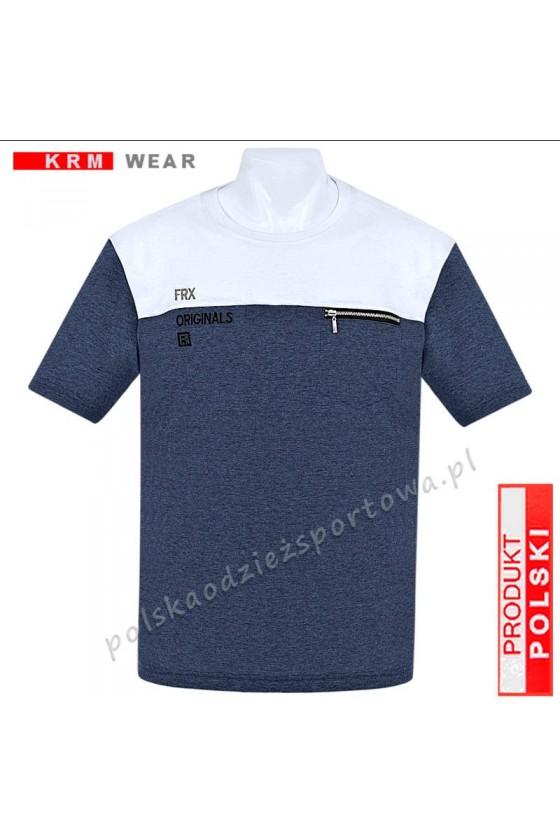 Koszulka Sportowa FR ORIGINAL jeans/biały