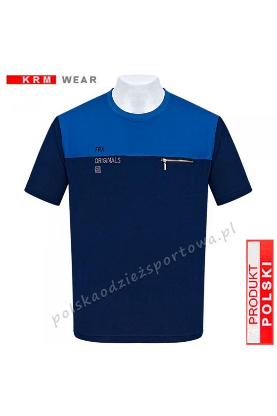 Koszulka Sportowa FR ORIGINAL granat/niebieski