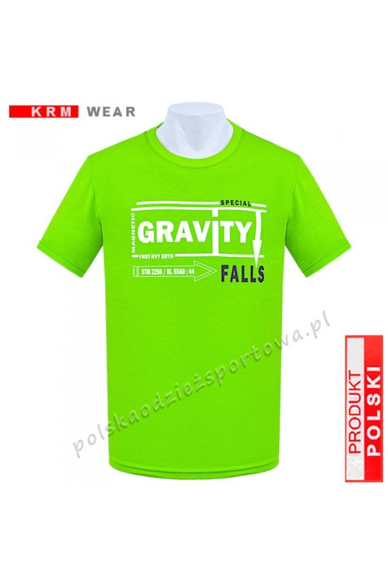 Koszulka  sportowa GRAVITY limonka