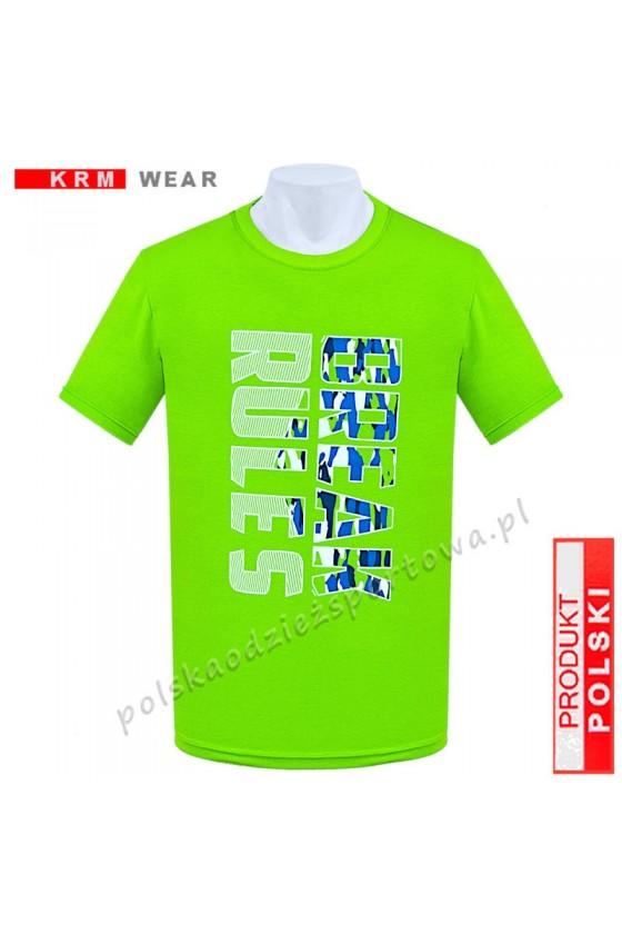 Koszulka  sportowa BREAK RULES limonka