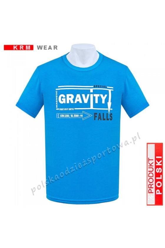 Koszulka  sportowa GRAVITY turkus