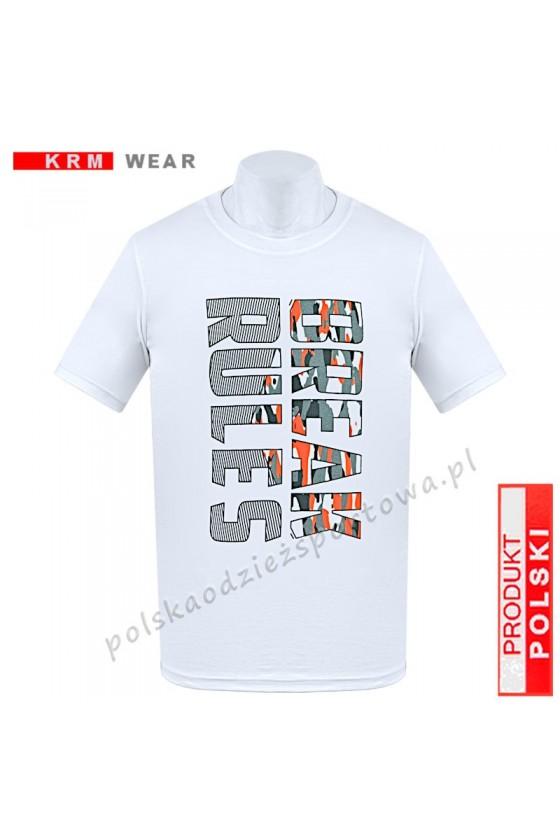 Koszulka  sportowa BREAK RULES biała