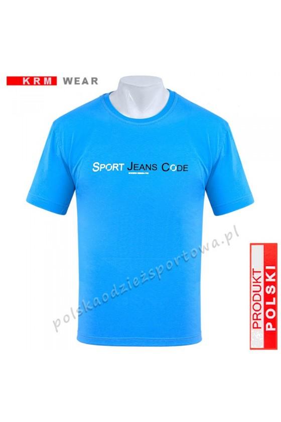 Koszulka sportowa FR SPORT niebieska
