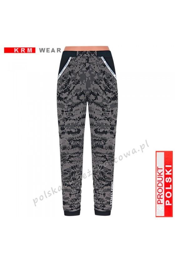 Ciepłe spodnie STREET MGG pixel grey