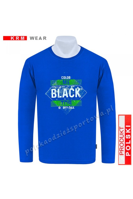 Longsleeve TS BLACK niebieski