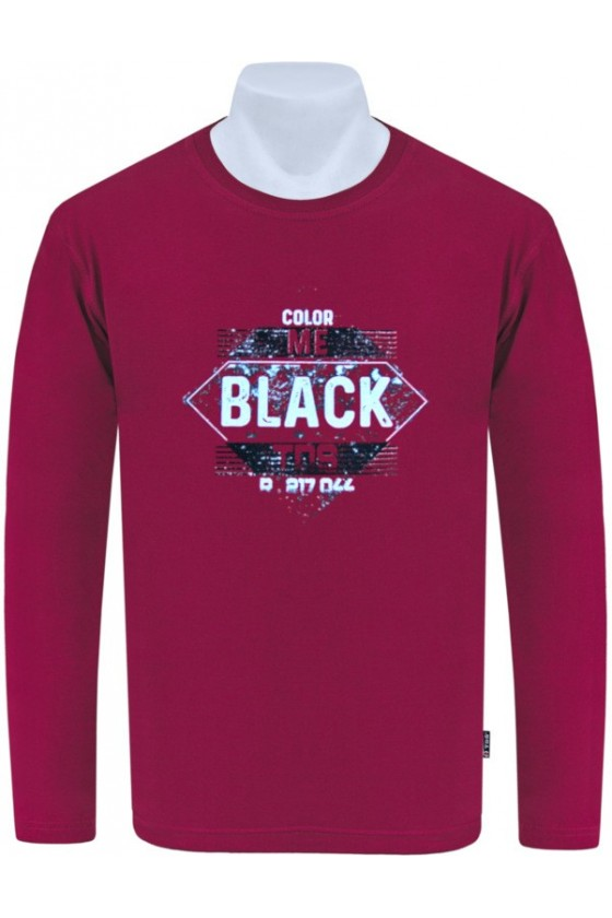 Longsleeve TS BLACK bordo