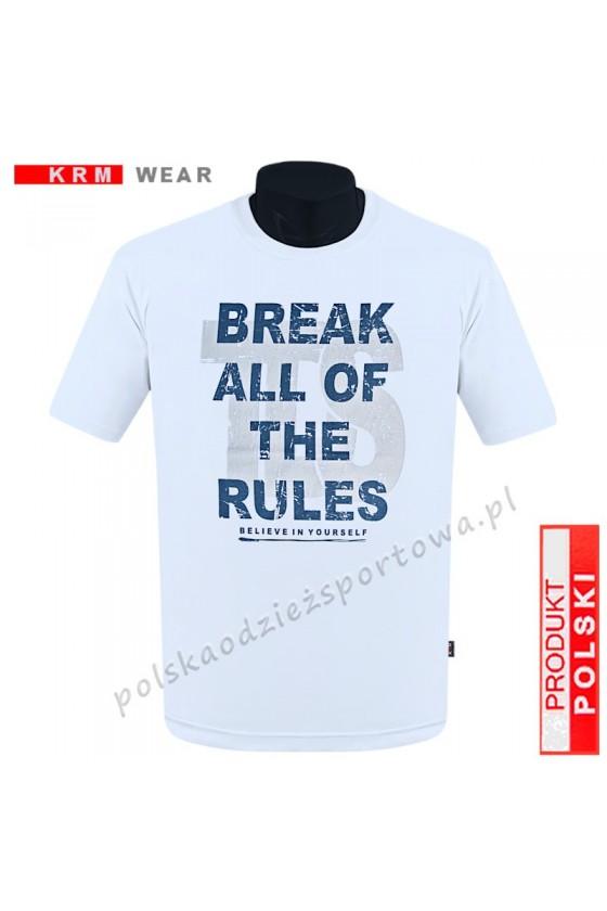 Koszulka Sportowa TS BREAK biała 2