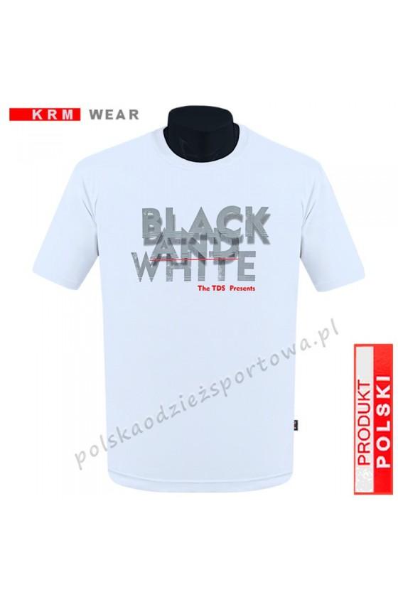 Koszulka sportowa TS B&W biała