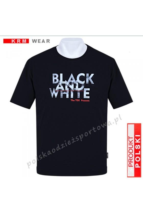 Koszulka sportowa TS B&W czarna
