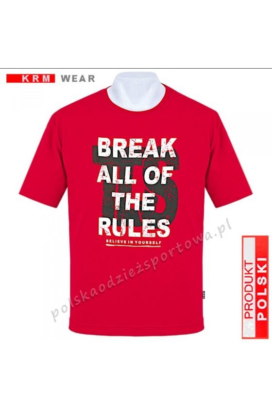 Koszulka Sportowa TS BREAK czerwona