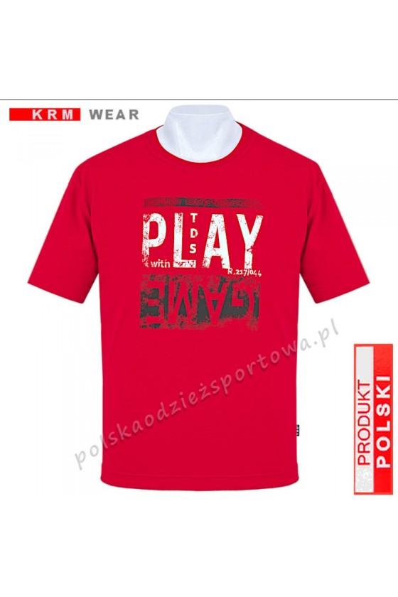 Koszulka sportowa TS PLAY czerwona
