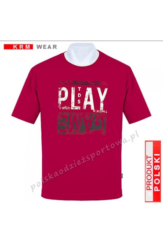Koszulka sportowa TS PLAY bordo