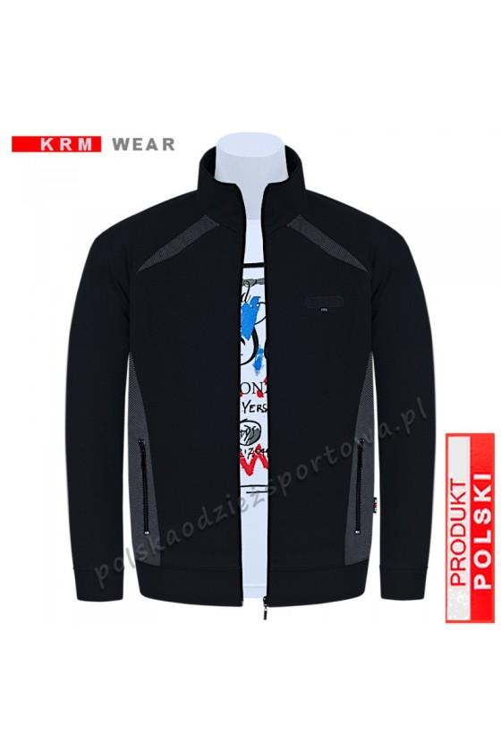 Cienka bluza rozpinana VIP czarna/pm M-8XL
