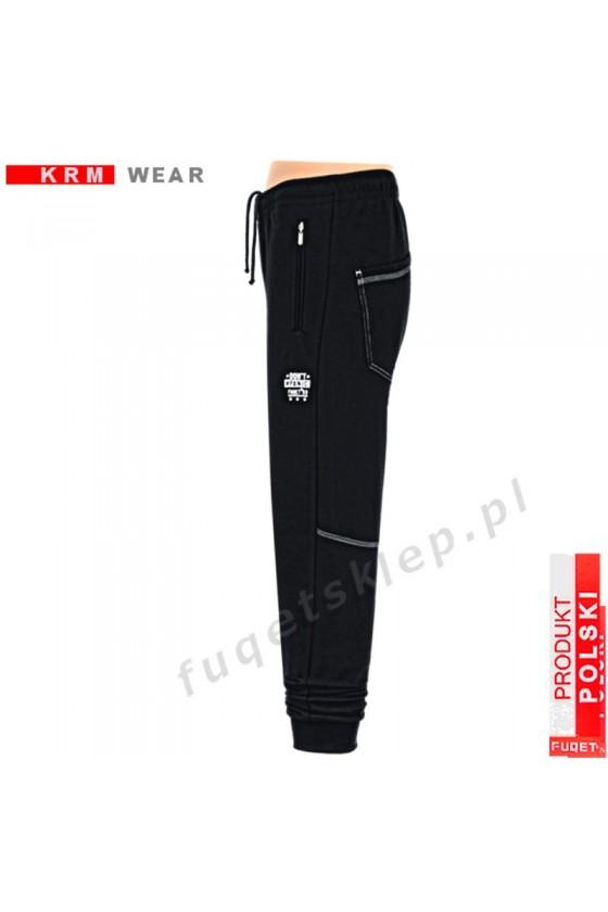 Spodnie bawełna DON'T PANIC PDS czarne