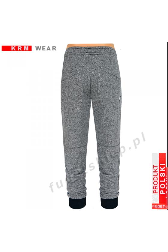Spodnie bawełna BRAVE PDS fantazja grey