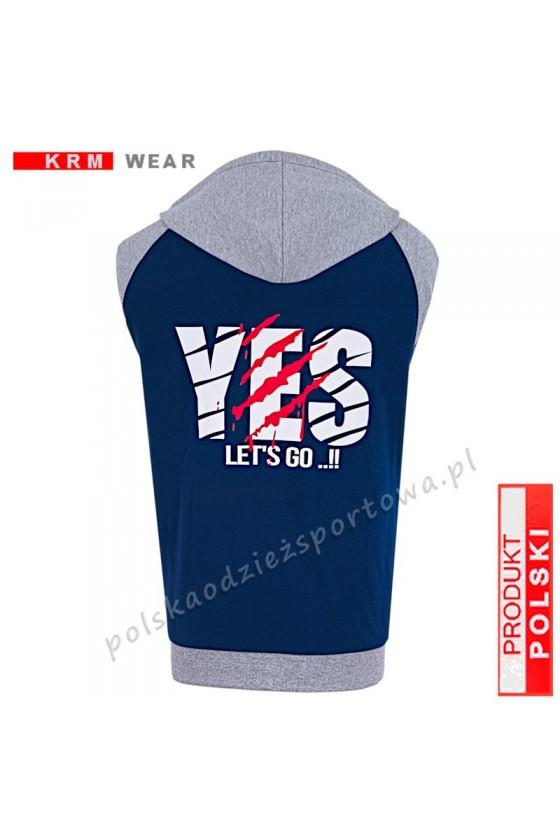 Bluza rozpinana TS 2-K  MP  ''YES'' granat