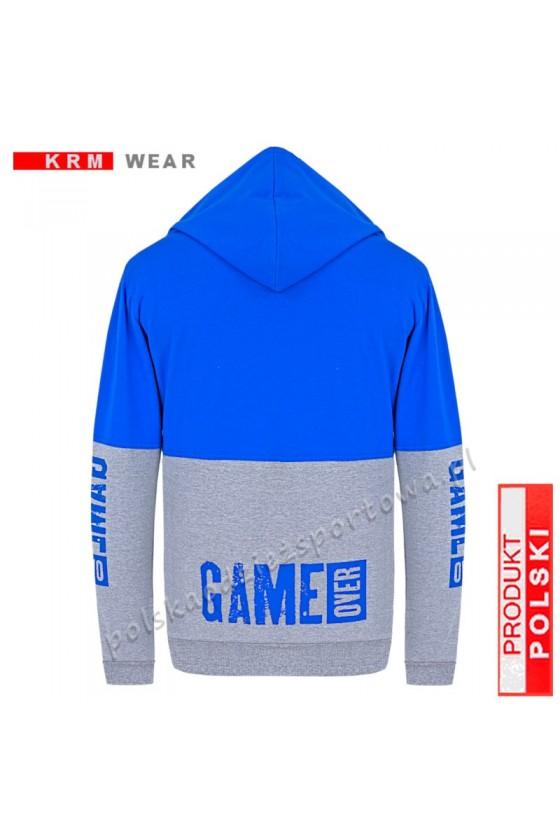 Bluza rozpinana TS GAME OVER  MP melanż/nieb.