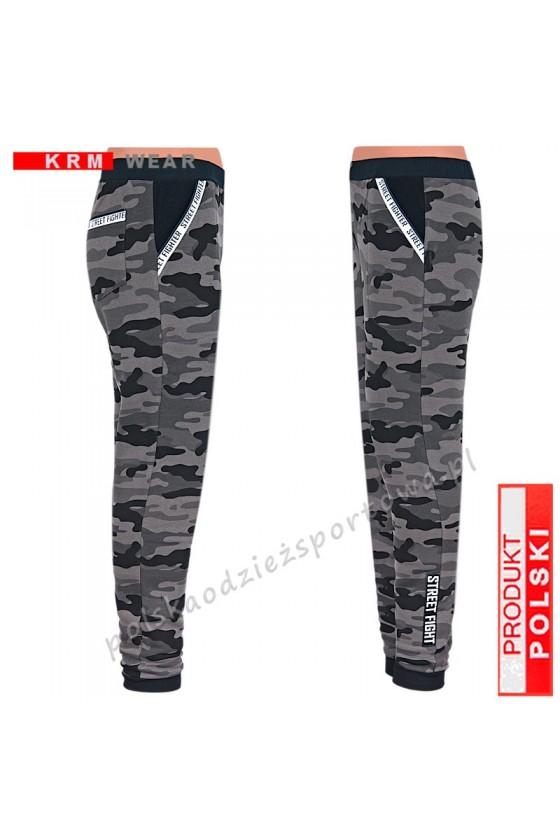 Ciepłe spodnie STREET MGG moro dark grey