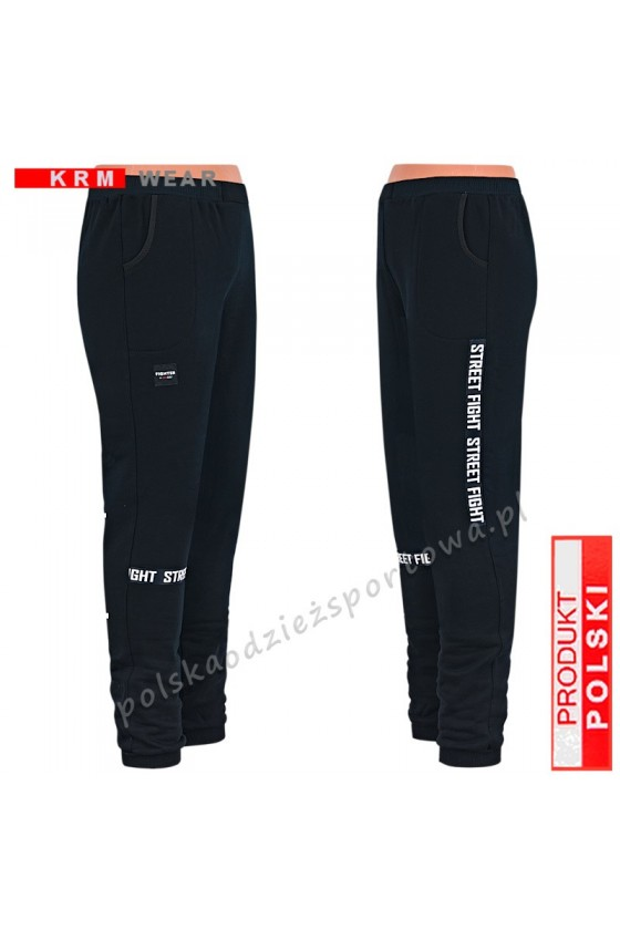 Ciepłe spodnie STREET MGG FIGHTER czarne