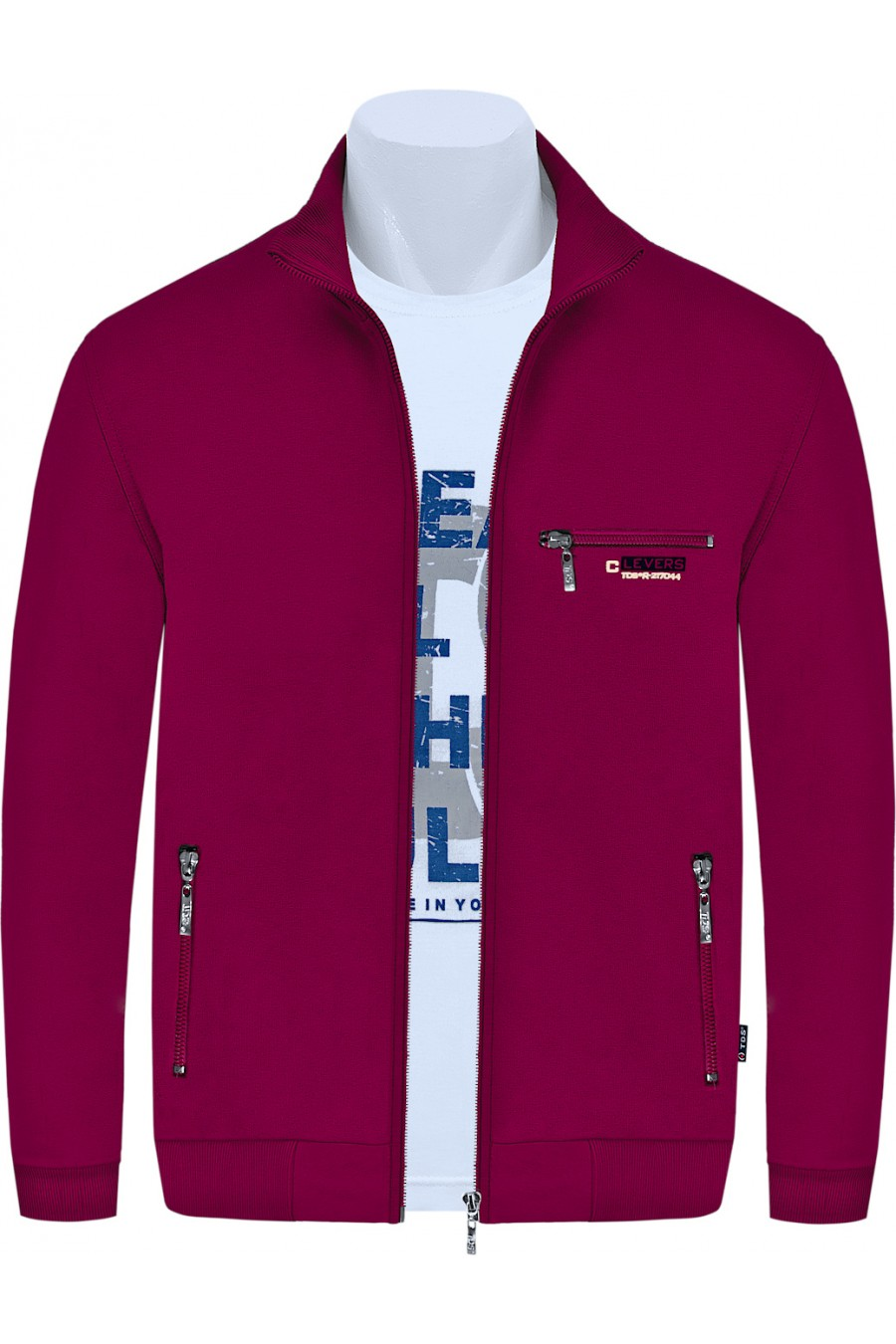 Bluza sportowa TSZG CLASSIC bordo