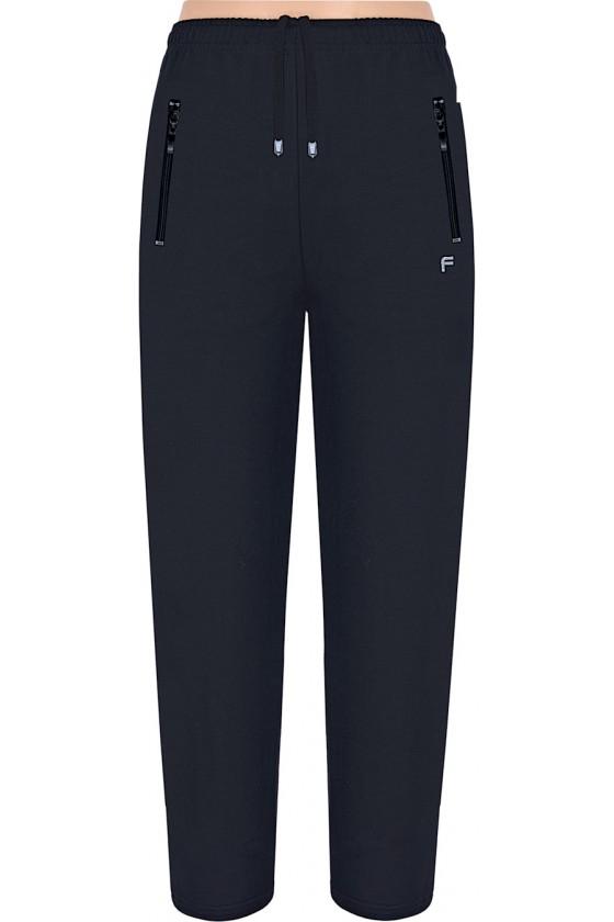 Spodnie sportowe FRP CLASSIC proste czarne S-8XL