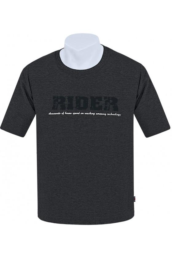 Koszulka S-6XL bawełna F RIDER antracyt