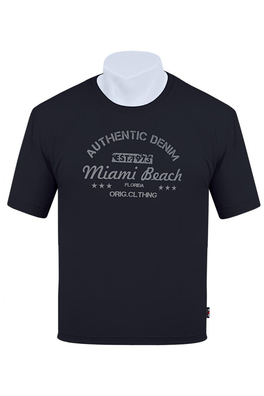 Koszulka AUTHENTIC M-8XL bawełna czarna