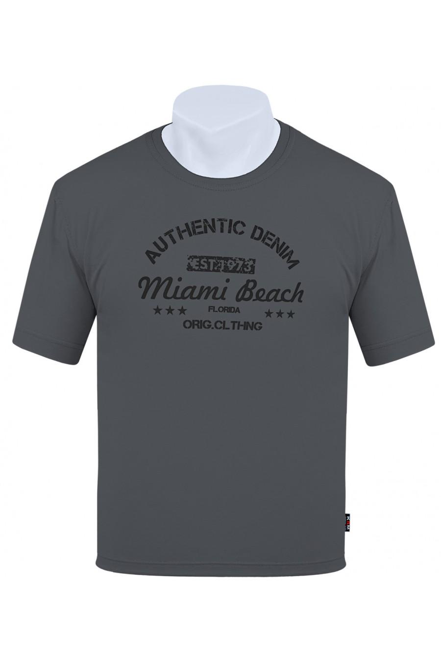 Koszulka AUTHENTIC M-8XL bawełna grafit