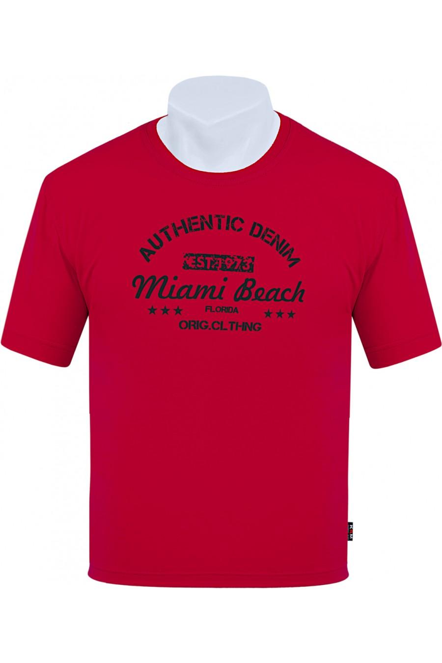 Koszulka AUTHENTIC M-8XL bawełna czerwona