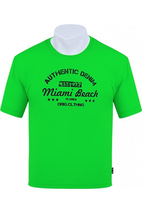 Koszulka AUTHENTIC M-8XL bawełna zielona