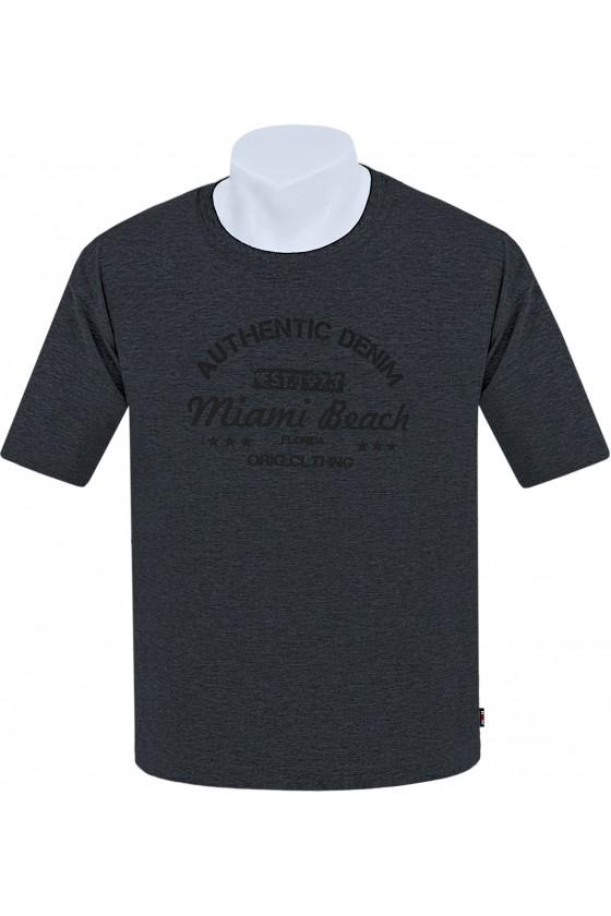 Koszulka AUTHENTIC M-8XL bawełna antracyt