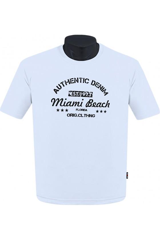 Koszulka AUTHENTIC M-8XL bawełna biala