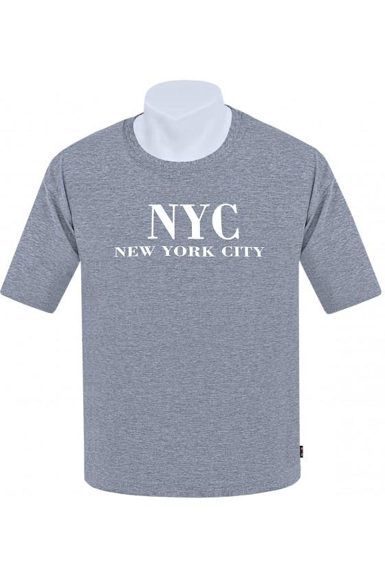 Koszulka NEW YORK CITY M-8XL bawełna melanż