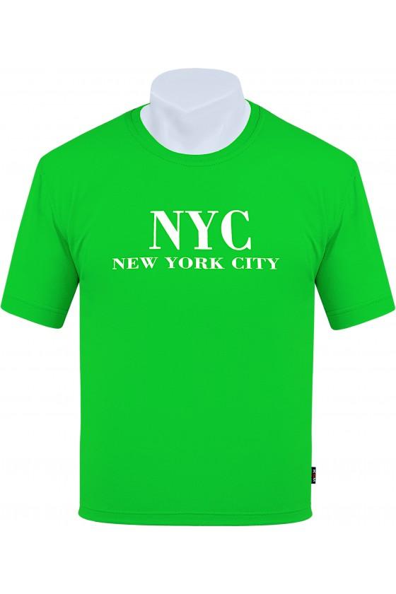 Koszulka NEW YORK CITY M-8XL bawełna zielona