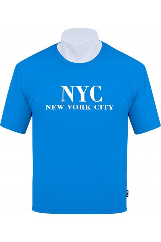 Koszulka NEW YORK CITY M-8XL bawełna turkus