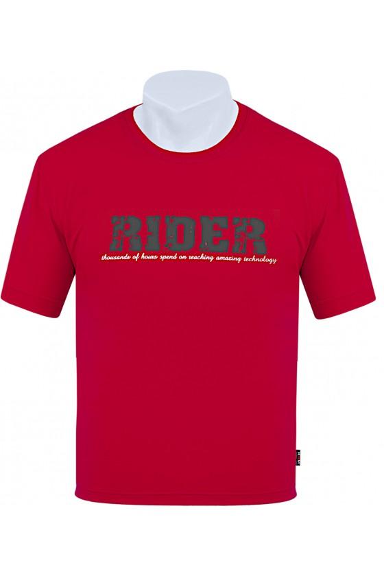 Koszulka S-6XL bawełna F RIDER czerwona