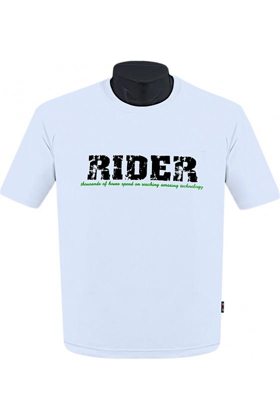 Koszulka S-6XL bawełna F RIDER biała
