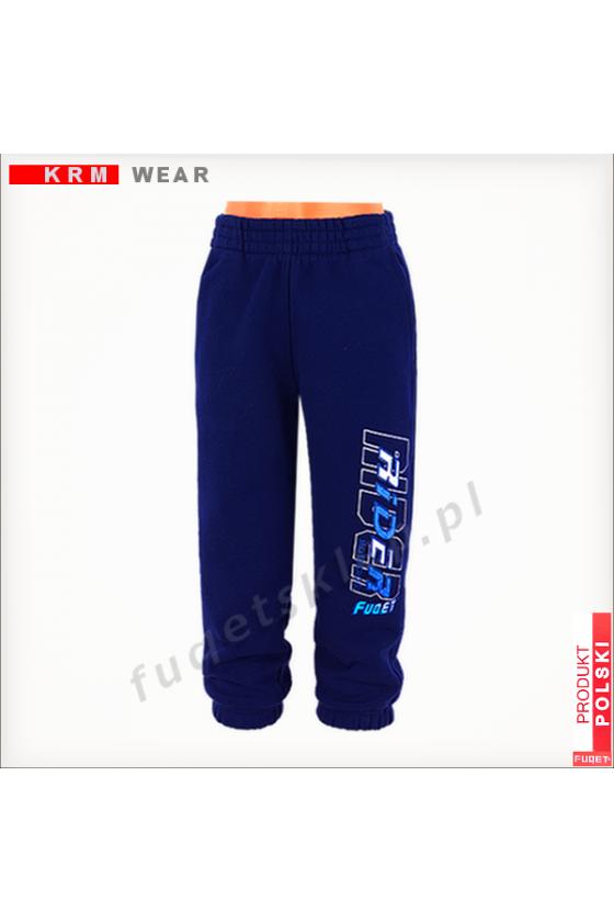 Spodnie dziecięce FUQET RIDER - G chabrowe