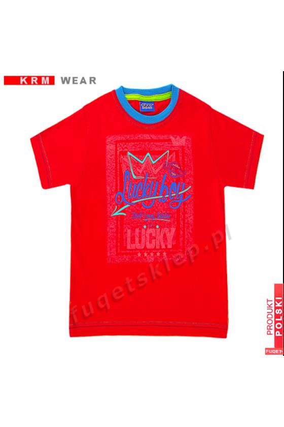 Koszulka dziecięca LUCKY BOY czerwona