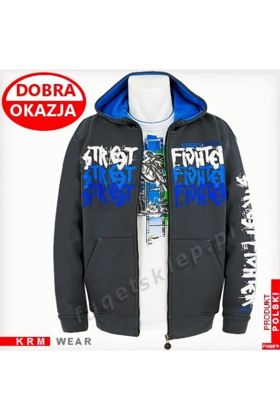 Bluza FUQET STREET FIGHTER 3 GDS stalowa