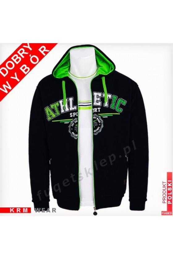 Bluza  ATHLETIC SPORT GM czarna/ziel