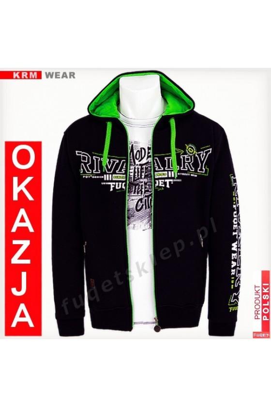 Bluza  FUQET RIVALRY GM czarna/ziel
